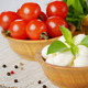 Mozzarella, tomatoes, basil and oil - PhotoDune Item for Sale