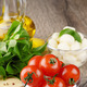 Cherry tomatoes, Mozzarella and oil - PhotoDune Item for Sale