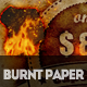 Burnt Paper with Fire Effects Photoshop Creator - GraphicRiver Item for Sale