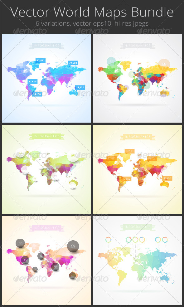 GraphicRiver World Map with Elements of Infographics 8274091