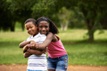 children african boy and girl in love hugging - PhotoDune Item for Sale