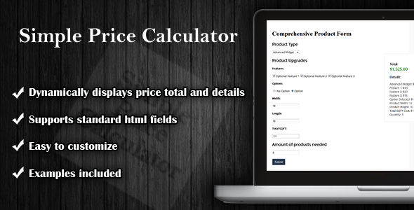 CodeCanyon Simple Price Calculator 8242357
