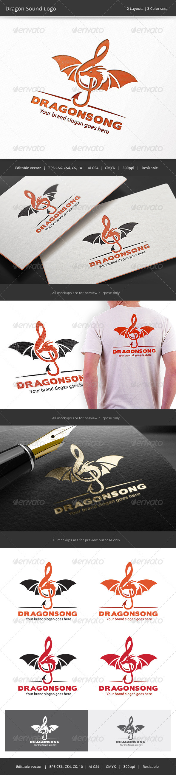 GraphicRiver Dragon Sound Logo 8274431