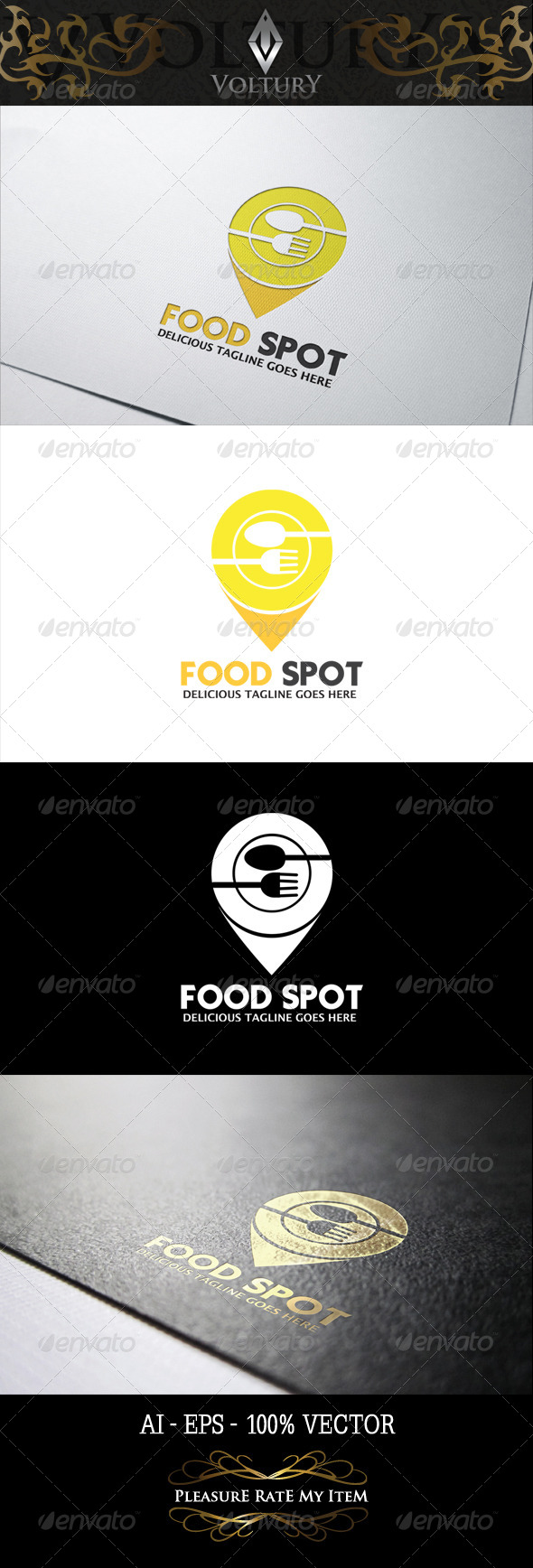 GraphicRiver Food Spot Logo 8274598
