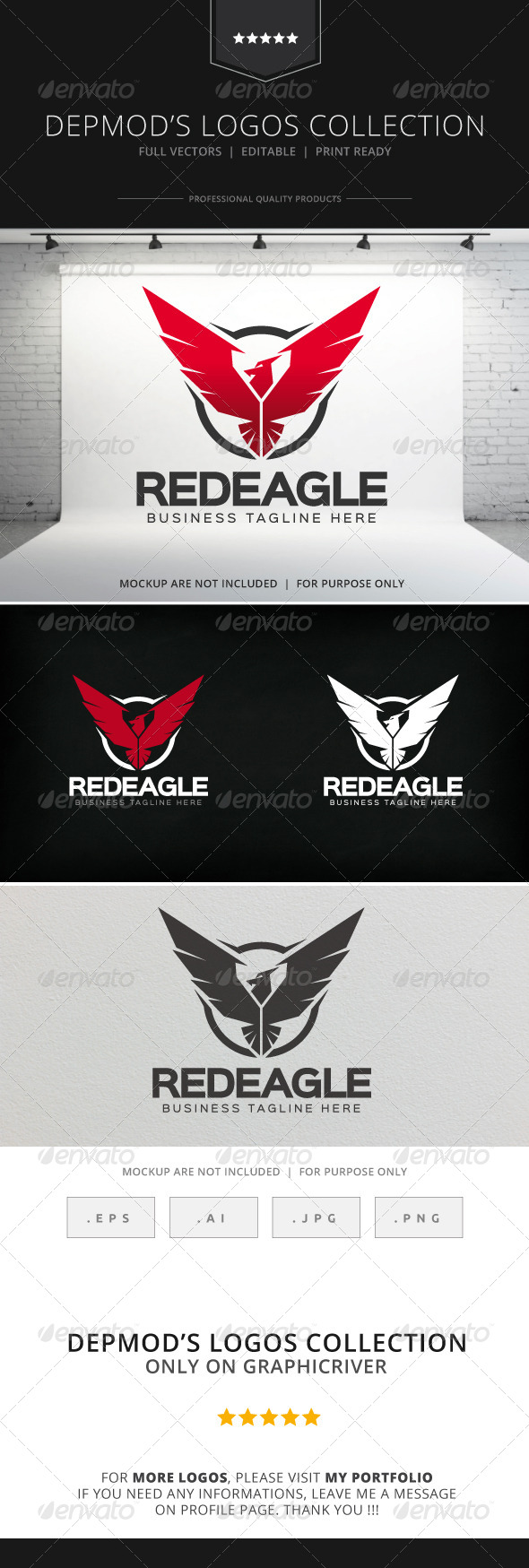 GraphicRiver Red Eagle Logo 8274955