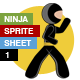 Stickman Ninja Sprite Sheet - Hand-To-Hand Fight - GraphicRiver Item for Sale