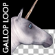 Horse Gallop - White Unicorn - VideoHive Item for Sale