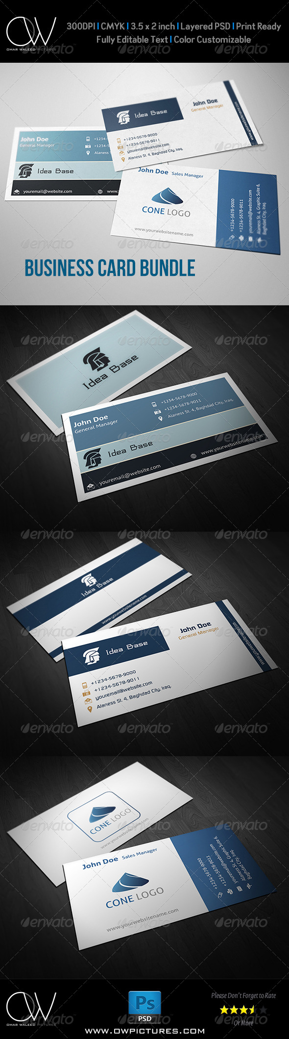 GraphicRiver Corporate Business Card Bundle Vol.1 8275223