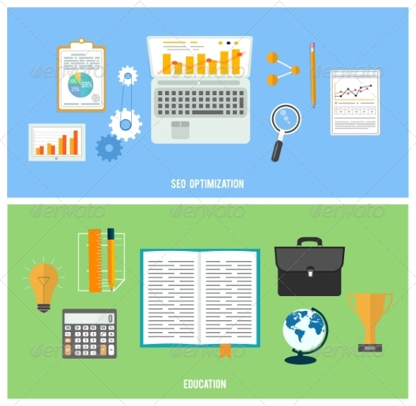 GraphicRiver Business Seo and Education Items Icons 8275272