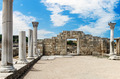 Ancient Greek basilica and marble columns in Chersonesus Taurica - PhotoDune Item for Sale