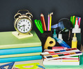 alarm clocks and school supplies - PhotoDune Item for Sale