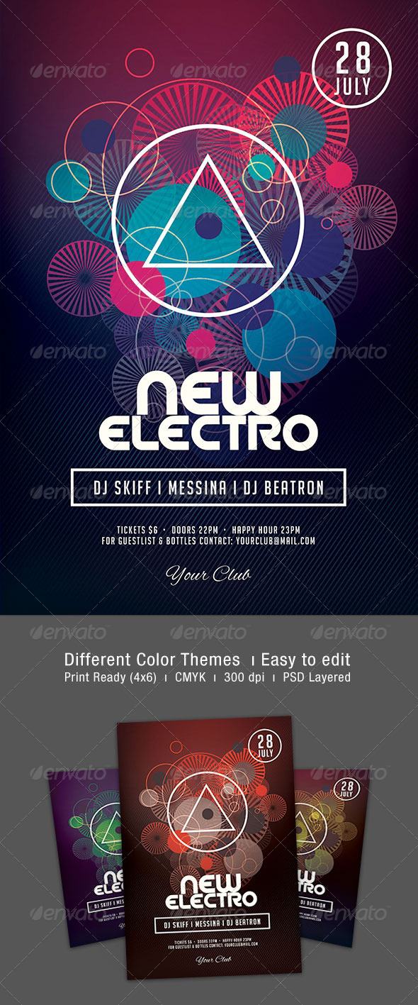 New Electro Flyer - Clubs & Parties Events