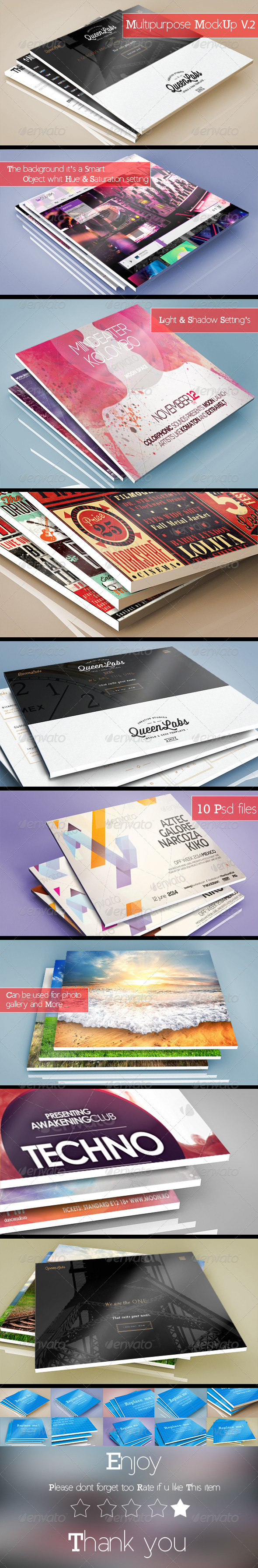 GraphicRiver 3D Multipurpose MockUp V.2 8275655