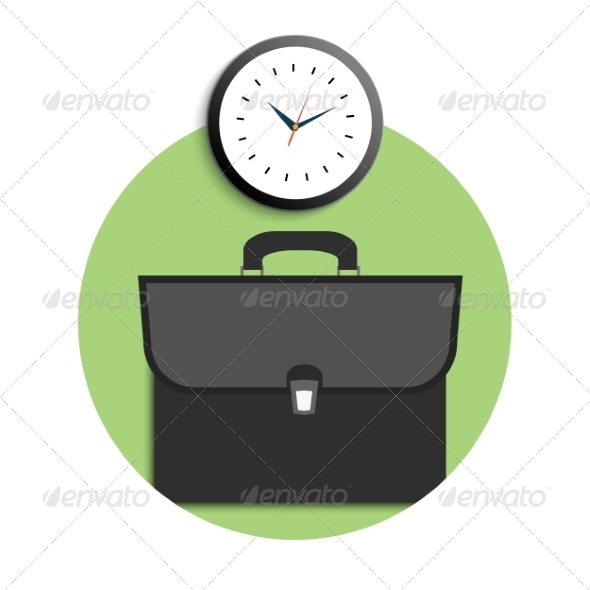 GraphicRiver Briefcase and Clock 8275662