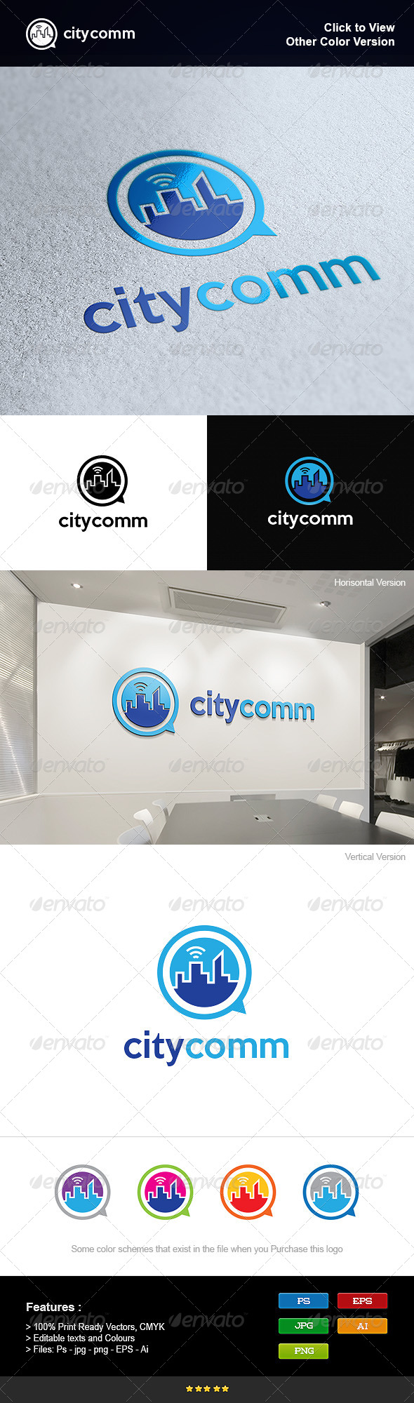GraphicRiver Communications in the City 8275711