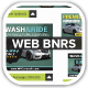 MY Automobile Carwash Service Web Banners - GraphicRiver Item for Sale