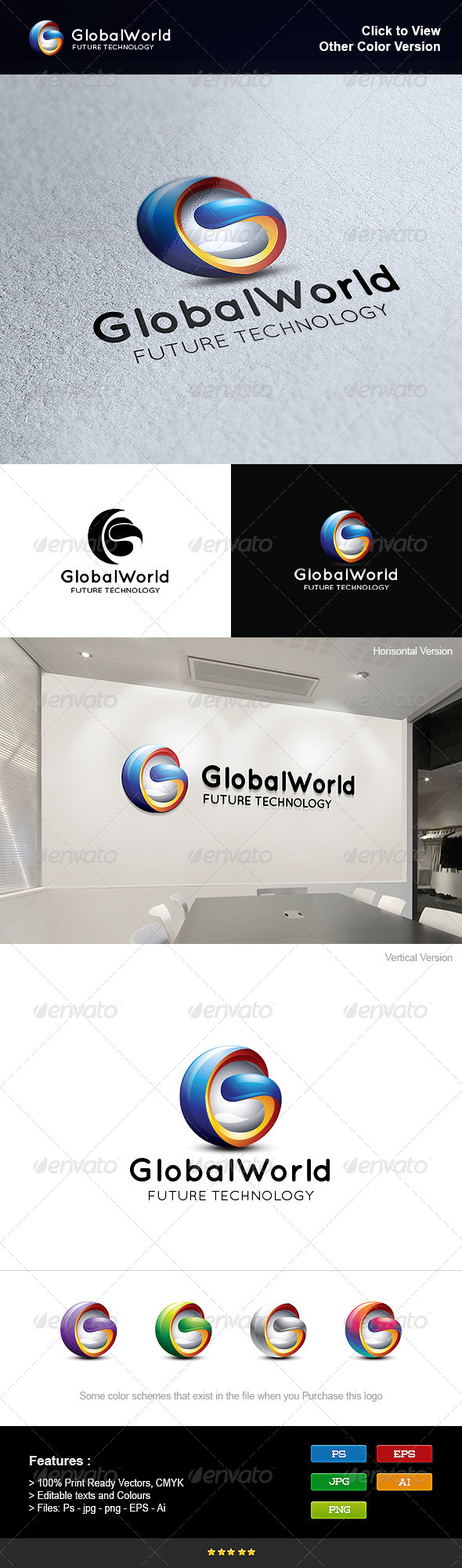 GraphicRiver Global World 8275825