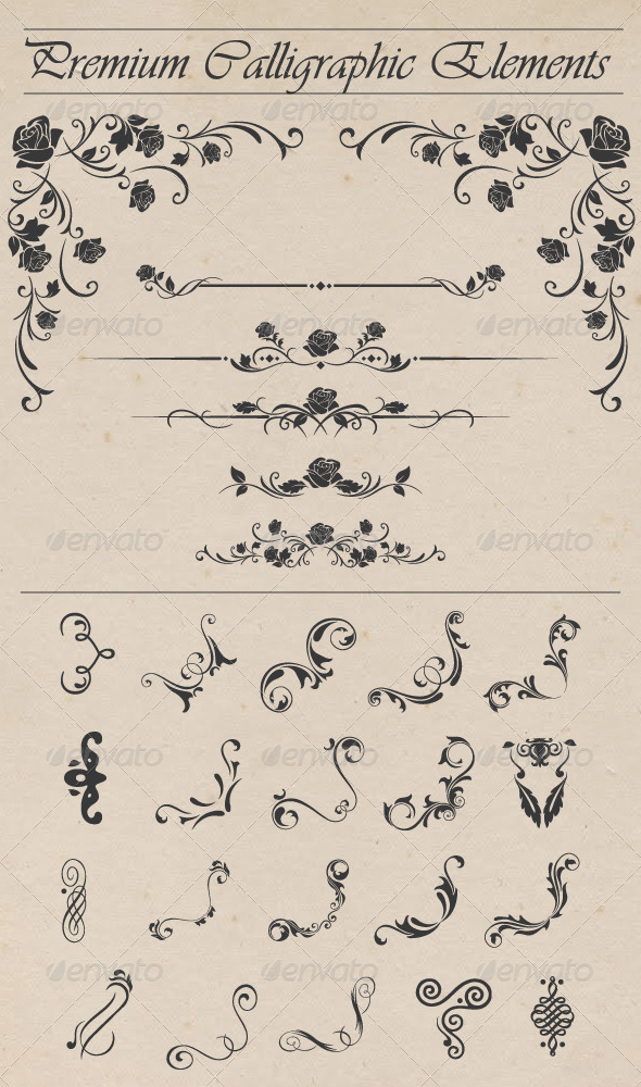 GraphicRiver Premium Calligraphic Elements 8258841