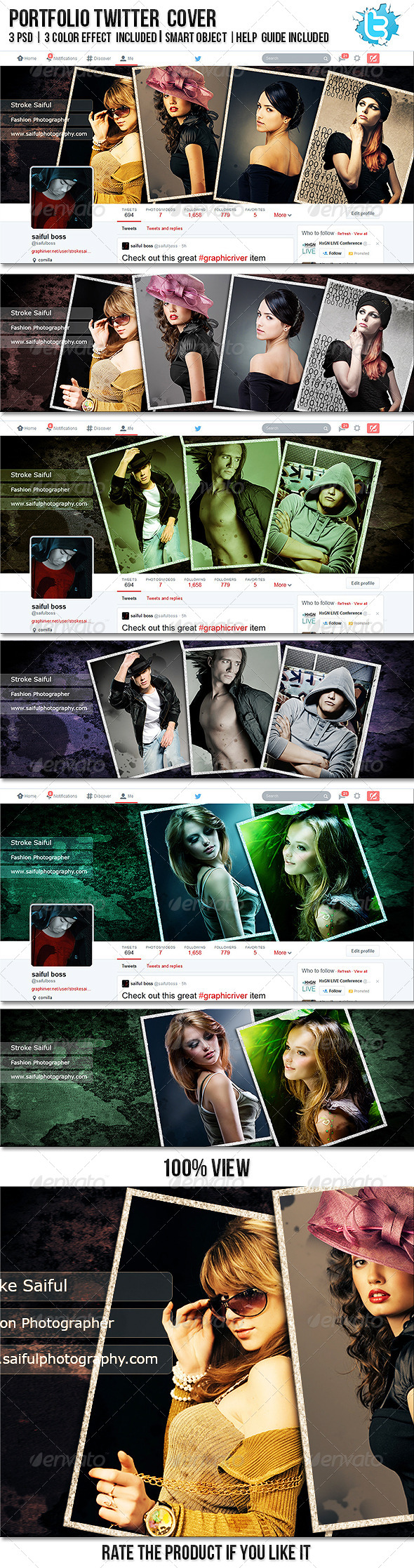 GraphicRiver Portfolio Twitter Profile Cover 8276180