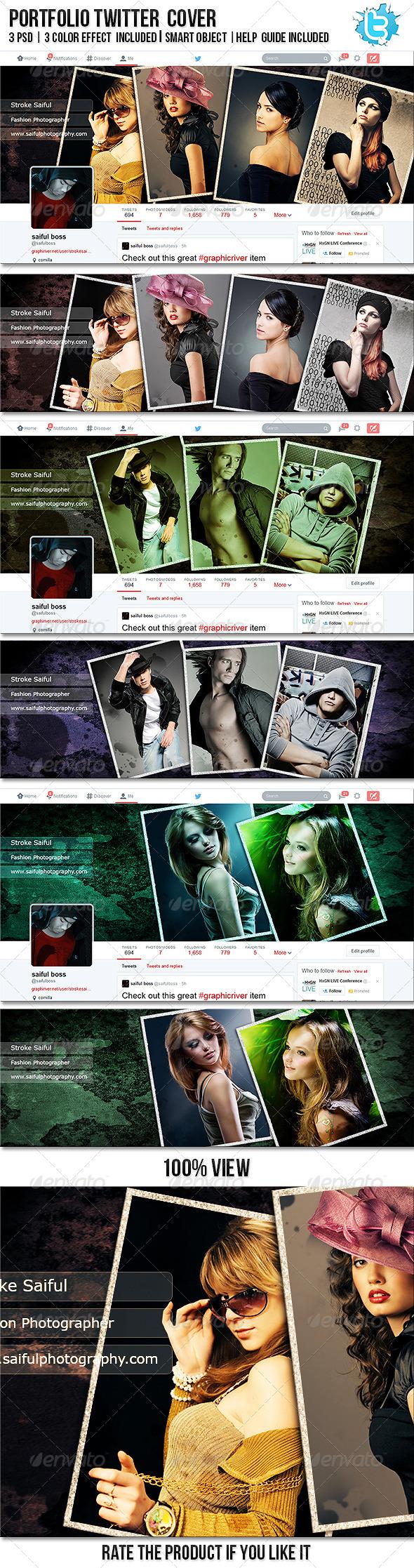 GraphicRiver Portfolio Twitter Profile Cover 8276180