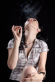 Woman Smoking a Cannabis Joint - PhotoDune Item for Sale