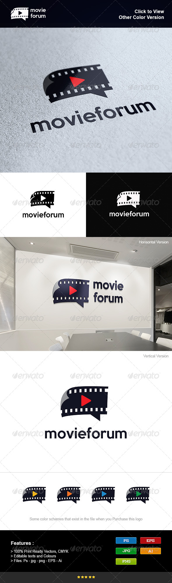 GraphicRiver Movie Forum Logo 8276264
