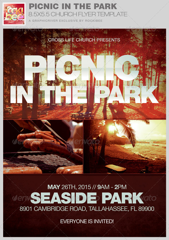 GraphicRiver Picnic in the Park Flyer Template 8276300
