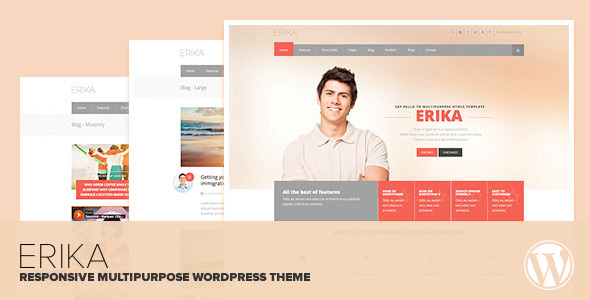 Erika - Responsive Multipurpose WordPress Theme - Corporate WordPress