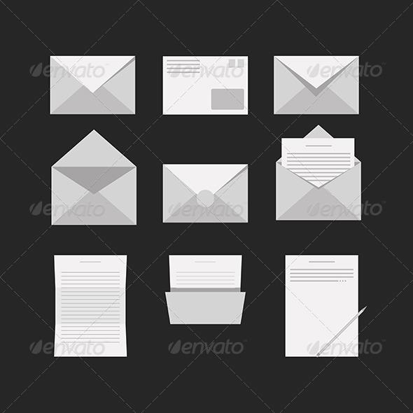 GraphicRiver Icons for Letter 8276316