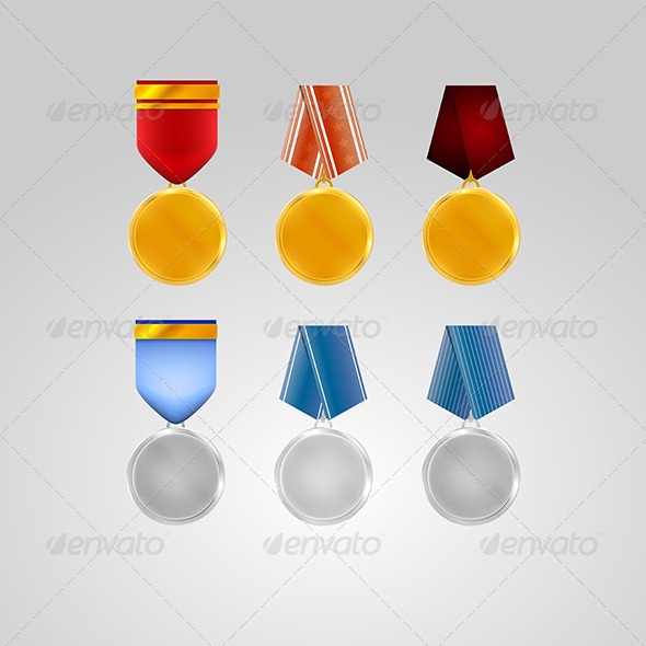 GraphicRiver Illustration of Medals 8276327