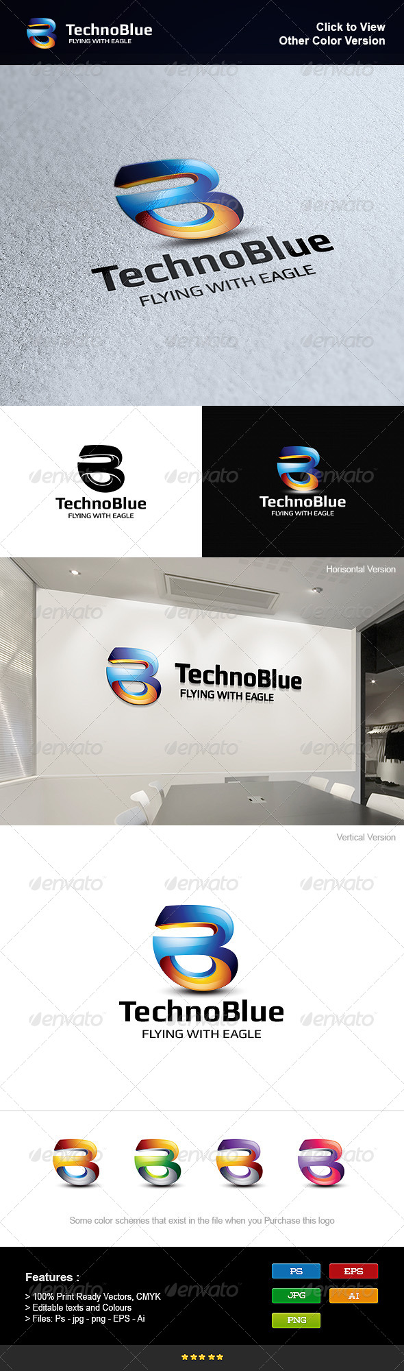 GraphicRiver Letter B Blue 8276332