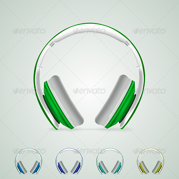 GraphicRiver Illustration of Headphones 8276333