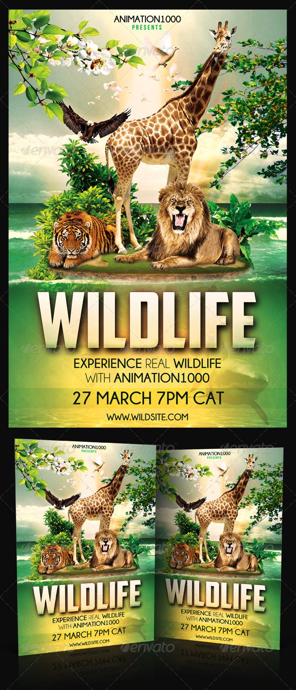 Wildlife Flyer Template PSD