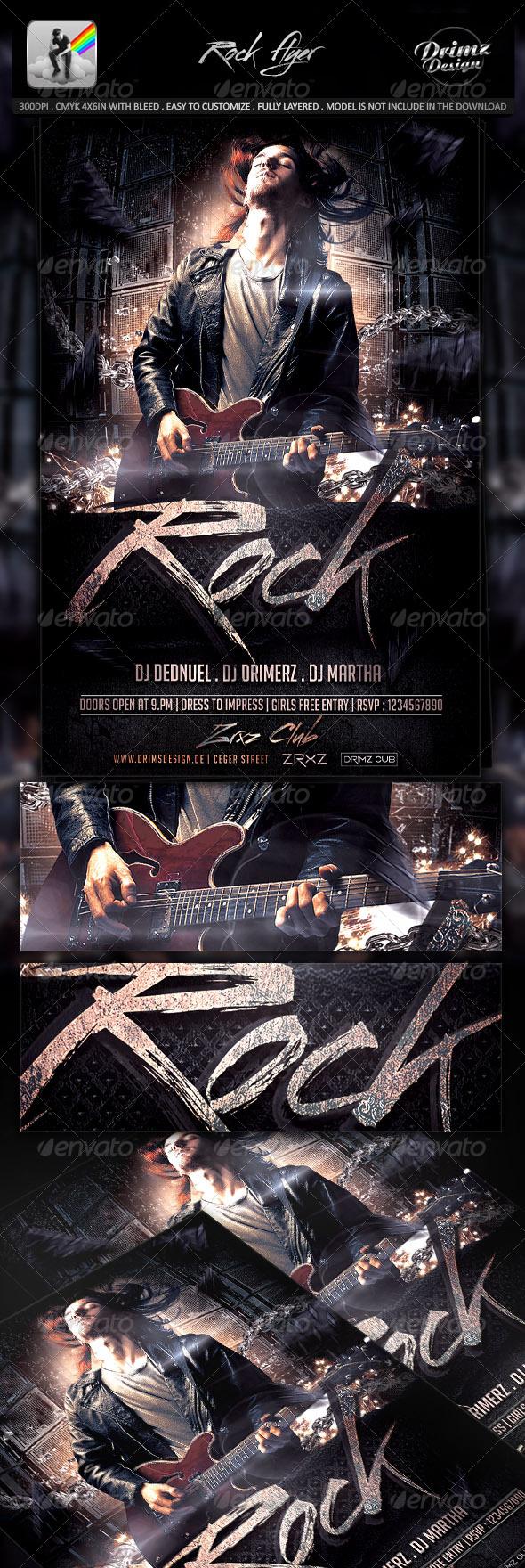 GraphicRiver Rock Flyer 8276440