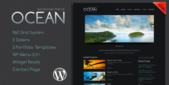 Ocean Premium WordPress Theme - Creative WordPress