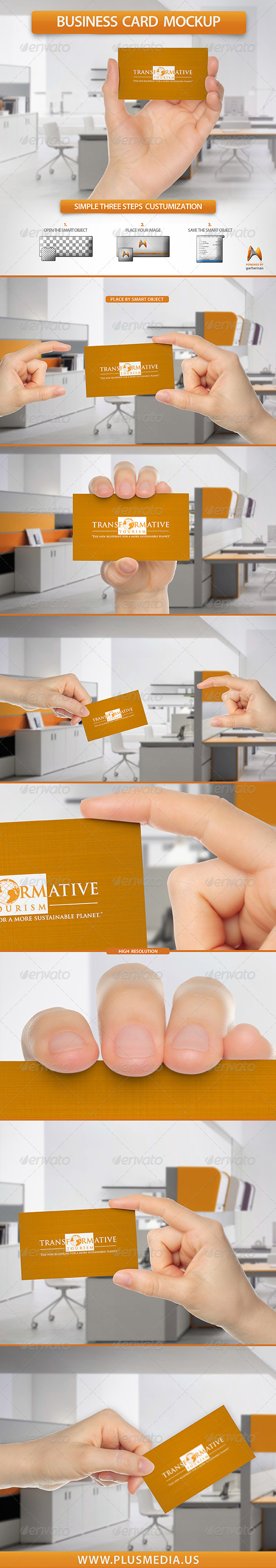 GraphicRiver Business Card Mockup 8278764