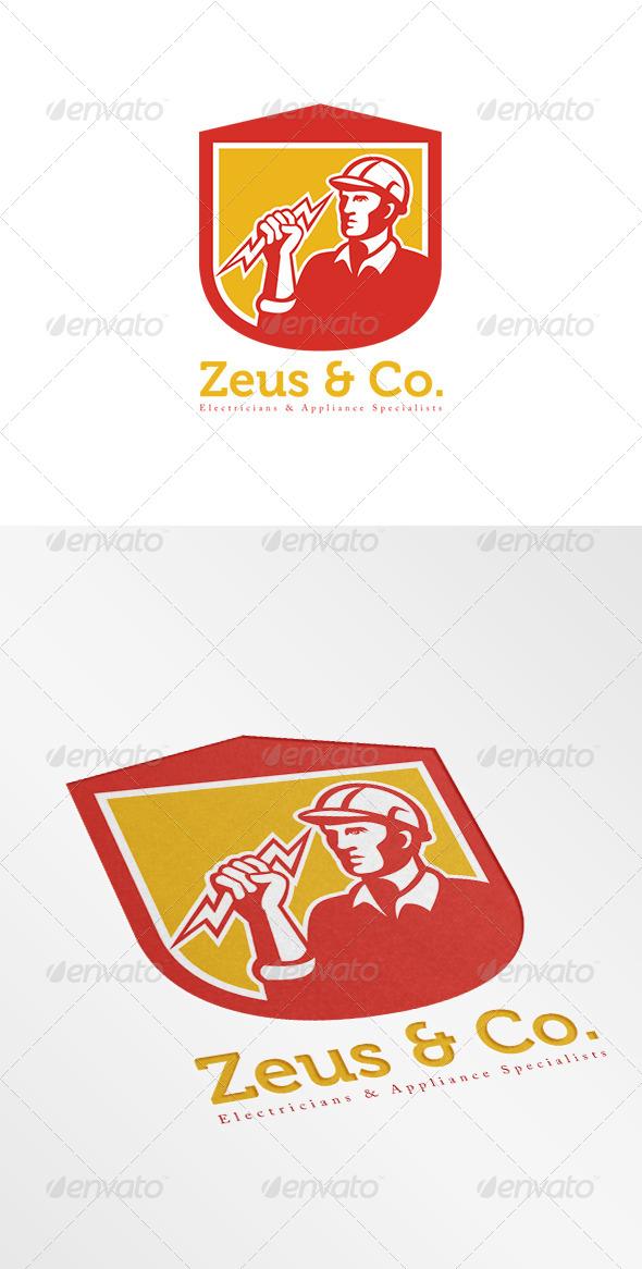 GraphicRiver Zeus Electricians Logo 8278934