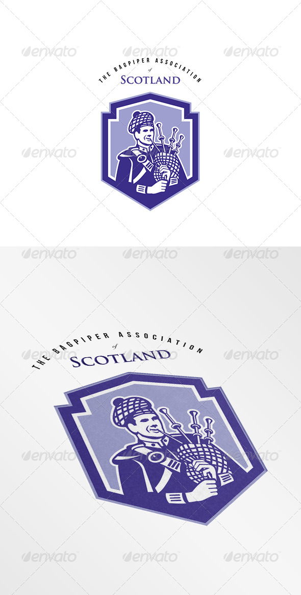 GraphicRiver The Bagpiper Society Logo 8278935
