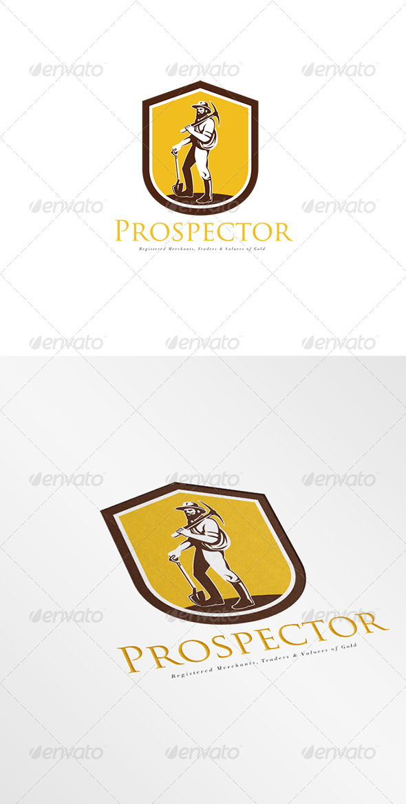 GraphicRiver Prospector Traders and Gold Valuers Logo 8278942