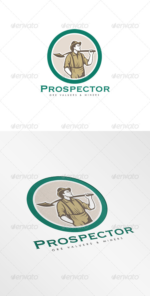 GraphicRiver Prospector Ore Valuers Logo 8278944