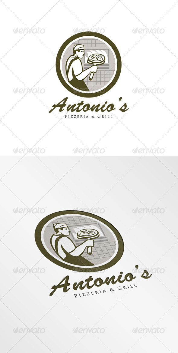 GraphicRiver Antonio s Pizzeria Logo 8278946