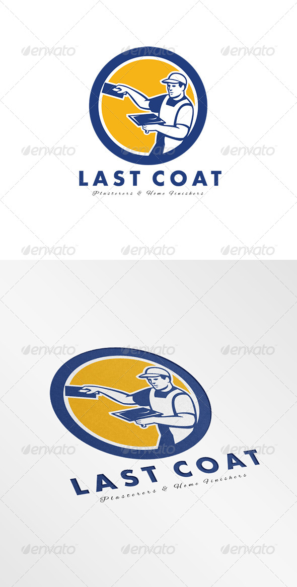 GraphicRiver Last Coat Plasterers and Finishers Logo 8278950
