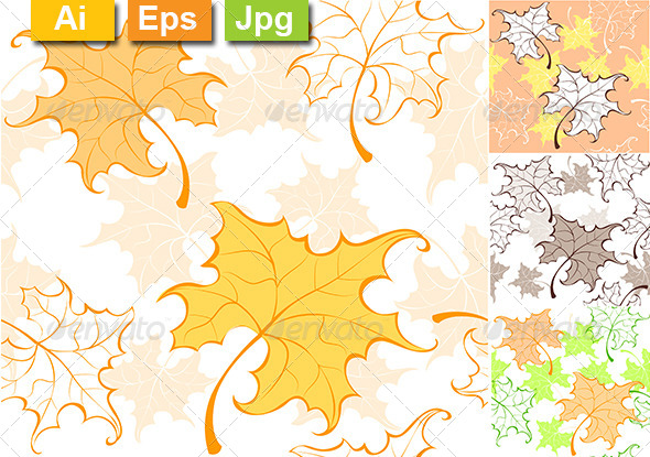 GraphicRiver Pattern from Autumn Leaves 8278953