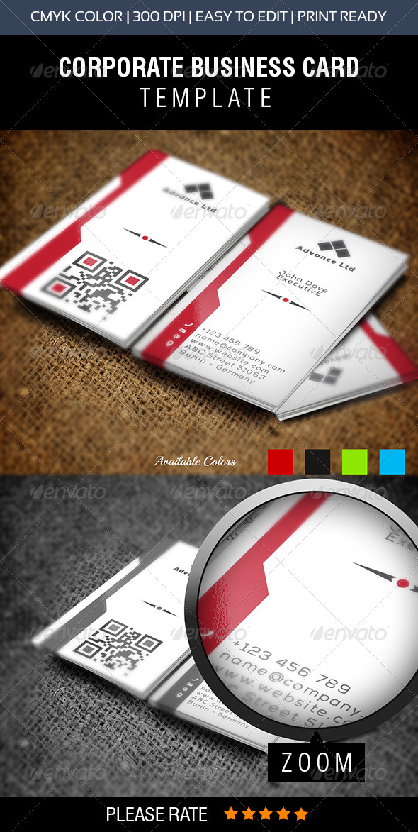 GraphicRiver Advance Corporate Business Card 8278955