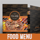 Wooden Food Menu - GraphicRiver Item for Sale