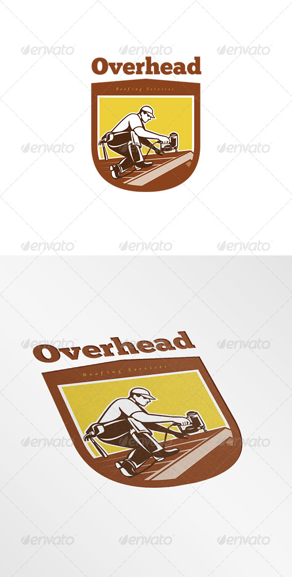 GraphicRiver Overhead Roofing Services Logo 8278962