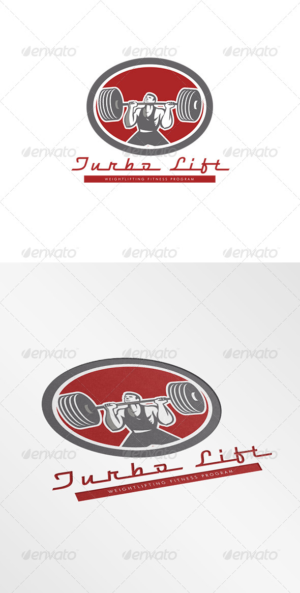 GraphicRiver Turbo Lift Weightlifting Fitness Program Logo 8278963