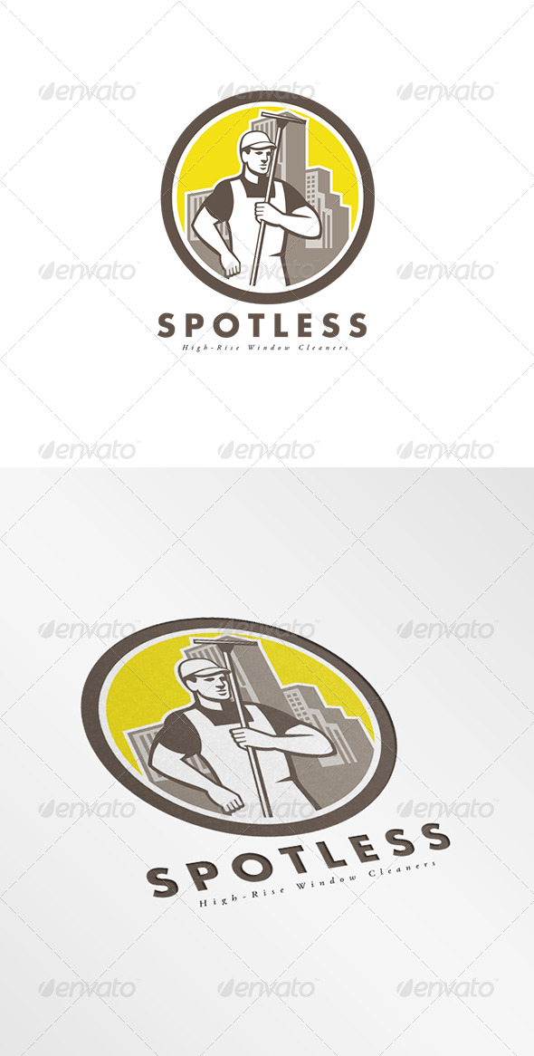 GraphicRiver Spotless Hi-Rise Window Cleaners Logo 8278967