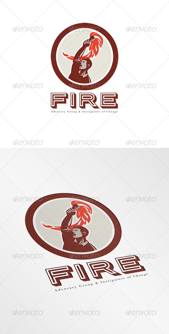 GraphicRiver Fire Advocacy Group Logo 8278970