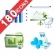180 Icons Business and Office - GraphicRiver Item for Sale